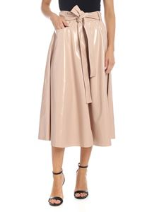 MSGM - Eco-leather skirt in powder pink