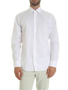 Z Zegna - Slim cotton shirt in white