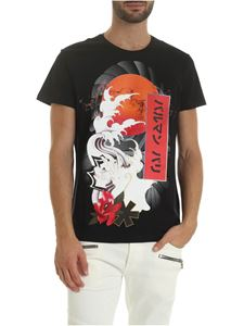 Balmain - Japanese print T-shirt in black