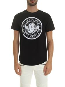 Balmain - Medallion logo print T-shirt in black