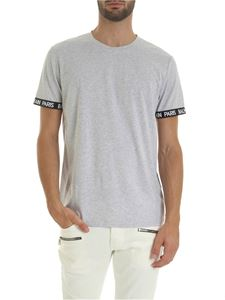 Balmain - Branded bands T-shirt in melange gray