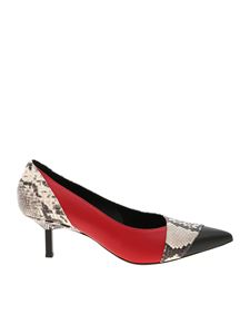 Vic Matiè - Pointed pumps in reptile print leather