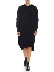 MSGM - Black dress with swallows embroidery