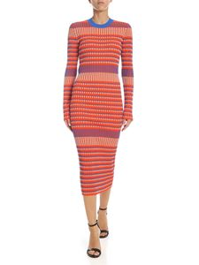 McQ Alexander Mcqueen - Orange dress with ribbed pattern