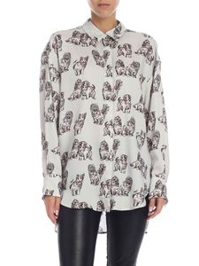MSGM - White shirt with cats print