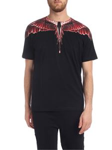 Marcelo Burlon - Red Ghost Wings t-shirt in black