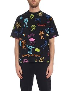 Marcelo Burlon - Sketch T-shirt in black