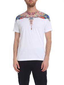 Marcelo Burlon - Multicolor Wings T-shirt in white