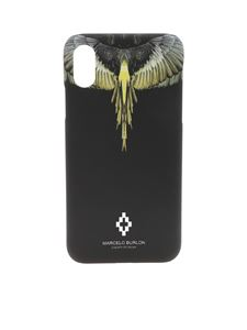 Marcelo Burlon - Wings black cover with yellow print