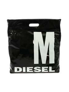 Diesel - Black bag with white logo print