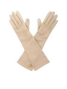 Max Mara - Afide gloves in beige nappa