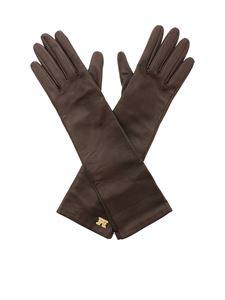 Max Mara - Afide gloves in brown nappa