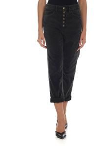 Dondup - Koons trousers in anthracite grey color