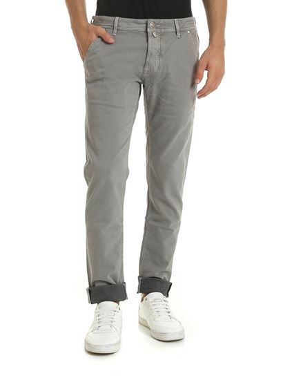 Jacob Cohën - Beige trousers with stripes