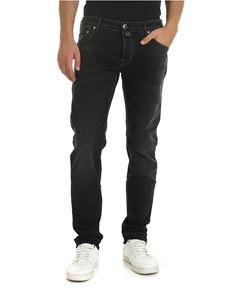 Jacob Cohën - Faded jeans in black