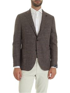 Lardini - Brown jacket with tartan pattern