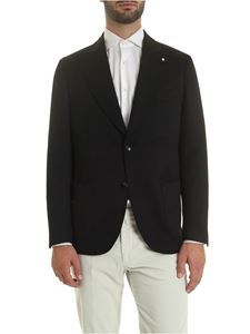 Lardini - Single-breasted jacket in black