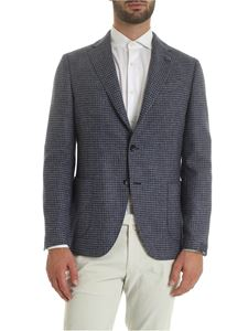 Lardini - Houndstooth jacket in blue and grey