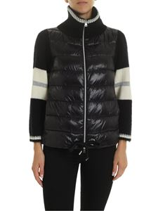 Herno - Resort down jacket in black with knit details