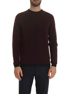 Zanone - Burgundy pullover with contrasting edges
