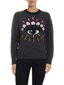 Kenzo - Grey pullover with Eye embroidery
