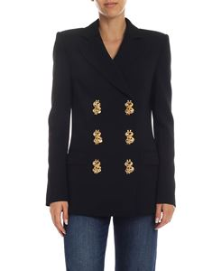Moschino - Jacket in black with jewel buttons