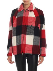 Woolrich - Buffalo jacket in black white and red