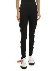 Off-White - Leggings Diag Athletic nero