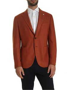 L.B.M. 1911 - Single-breasted jacket in melange orange