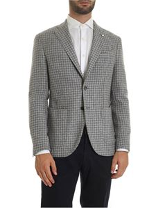 L.B.M. 1911 - Houndstooth jacket in gray