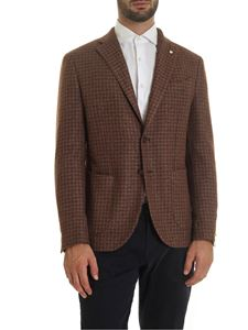 L.B.M. 1911 - Houndstooth jacket in brown