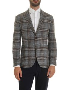 L.B.M. 1911 - Dandy jacket in gray and brown tartan