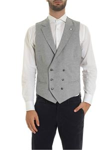 L.B.M. 1911 - Harringbone vest in gray