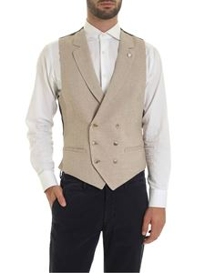L.B.M. 1911 - Harringbone beige and brown vest