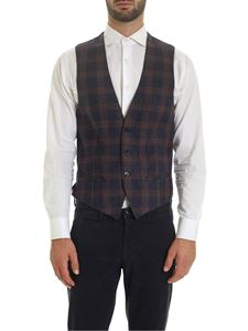 L.B.M. 1911 - Vest with blue and orange check