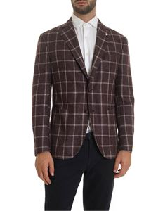 L.B.M. 1911 - Checked jacket in burgundy color