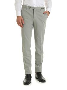 PT01 - Diagonal knitting trousers in light gray