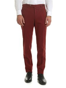 PT01 - Diagonal knitting trousers in red