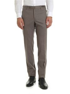 PT01 - Flannel trousers in melange beige