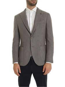 Lardini - Single-breasted jacket in melange gray