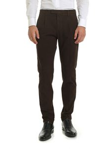 Briglia 1949 - Textured fabric trousers in brown