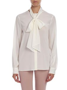 Ballantyne - Stretch silk shirt in white