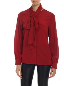 Ballantyne - Stretch silk shirt in red