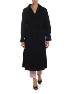 L'Autre Chose - Shawl lapels coat in black