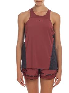 Adidas by Stella McCartney - Top Run Loose dark red and anthracite
