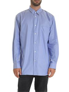 Comme Des Garçons Shirt  - Light blue shirt with grey detail