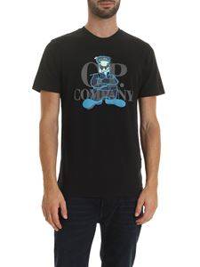 CP Company - Black T-shirt with logo print