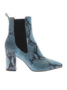 Paris Texas - Light blue ankle boot with reptile print