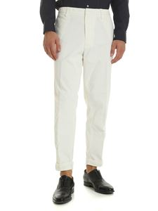 Dondup - Ivor trousers in white corduroy
