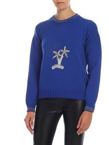 Giada Benincasa - Palm embroidery pullover in blue